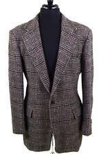 POLO RALPH LAUREN 41 L Gray - Black & Magenta Houndstooth Plaid Tweed Sport Coat