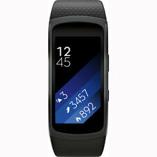 Samsung Gear Fit 2 Fitness Band Large Black with Notifications, GPS Bluetooth