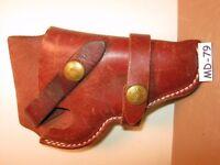 Long Horn Sheep Double Strap GUN HOLSTER NICE OLD Maker Marked