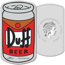 Tuvalu - 1 Dollar 2019 - Duff Beer™ - Die Simpsons™ - 1 Oz Silber PP
