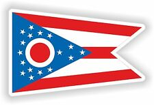 Flag Sticker of Ohio State for Motorcycle Scooter Door Book Tool Box Computer