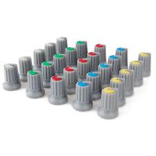 25 Drehknöpfe im Set, Drehknopf Sortiment, Regler, Knöpfe in 5 Farben Mischpult
