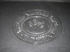 "Westmoreland Glass DELLA ROBBIA Clear Plate Luncheon 9"" Elegant Glassware."