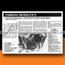 ★ YAMAHA 125 RDX (1E7) ★ 1977 Essai Moto / Original Road Test #c320