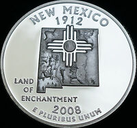 2008 S New Mexico Mint Silver Proof ~ Statehood Quarter from U.S. Proof Set