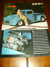 1941 WILLYS PICKUP HOT ROD  ***ORIGINAL 1994 ARTICLE / HOT GIRL PIN-UP***