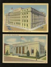 USA POST OFFICE PPCs 1930-40s MARYLAND...2 CARDS