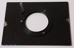 "Beseler 57MX Lens Board 60mm Threaded Mount w/3 Screw Holes 5x6 3/8"" USED F16 5C"