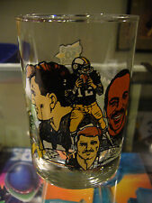 1982 PITTSBURGH STEELERS MCDONALD'S GLASS 5O SEASONS STALLWORTH BLOUNT BRADSHAW