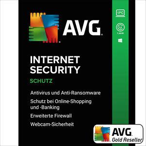 AVG Internet Security 2021 | 1PC 1 Jahr | Vollversion/Upgrade Promotion UE DE