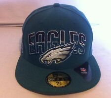 Brand NEW Philadelphia Eagles New Era 59fifty Fitted Cap sz 7-5/8