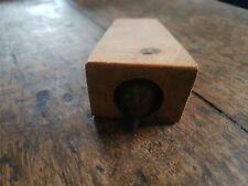 Victorien en bois de pin de plus de 100 ans Butée de porte avec sculptés à la main souris
