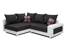 Vicco Sofa Couch Polsterecke München Ecksofa PU Leder Strukturstoff weiß grau
