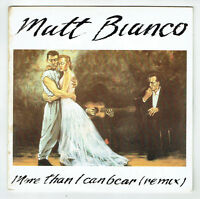 """MATT BIANCO Vinyl 45 tours SP 7"""" MORE THAN I CAN BEAR - MATT'S MOOD - WEA 249143"""