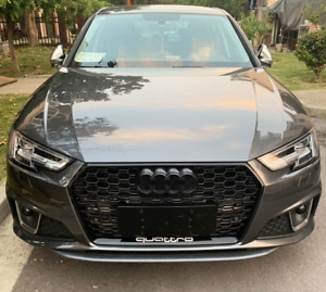Audi A4/S4 (B9) RS4 Style Gloss Black Honeycomb Front Grille