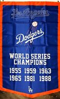 Los Angeles Dodgers MLB World Series Championship Flag 3x5 ft Banner Man-Cave