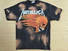 Men's Vintage Metallica 1994 summer tour shirt, tie-dye, flaming Skulls, medium