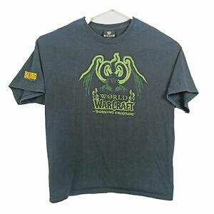 Vintage Jinx Blizzard World Of Warcraft Burning Crusade T-Shirt Size XL Promo