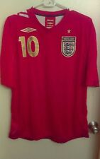 2006 world cup umbro england soccer jersey michael owen #10 red mens large nwt
