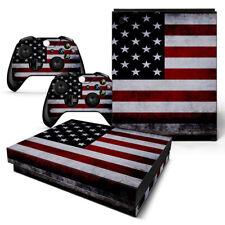 XBOX ONE X Skin Design Foils Aufkleber Schutzfolie Set - USA 2 Motiv