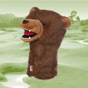 Daphnes Novelty Golf Club Driver 1 Wood Headcover Grizzly Bear