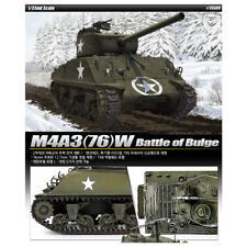 ACADEMY #13500 1/35 Plastic Model Kit M4A3(76)W Battle of Bulge