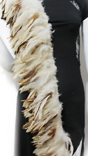 NEW 20 Variegated Cream Brown Rooster Coque Feathers 10-16cm DIY Craft Juju Hat