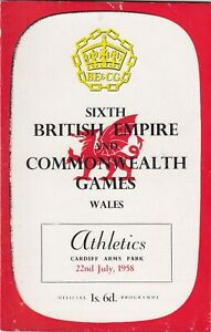 SIXTH BRITISH EMPIRE & COMMONWEALTH GAMES PROGRAMME - ATHLETICS, 22nd July, 1958