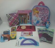 Disney Cinderella Princess Back To School 11 Piece Set Bundle