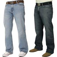 New Mens Straight Leg Jeans Basic Heavy duty Work Wear Denim Waist Big king Size