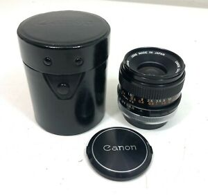 Canon FD 35mm f/3.5 S.C. Wide Angle Prime Lens w/Caps and Case