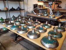 ANCIEN LAMPE SUSPENSION ABAT JOUR DESIGN INDUSTRIEL MÉTAL ATELIER USINE LOFT BAR