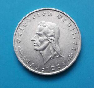 5 Reichsmark Schiller, 1934 F