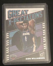 2019-20 Donruss Zion Williamson Great Xpectations Rookie
