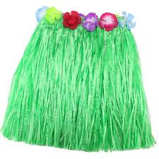 Ladies Women Hawaii Fancy Dress Grass Skirt Hula Hawaiian Full   HKUK
