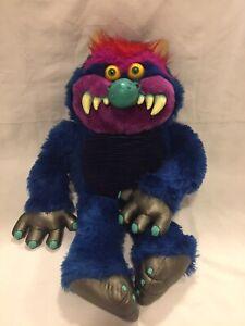 "Vintage My Pet Monster 1985 AmToys 24"" Blue Stuffed Plush Animal"