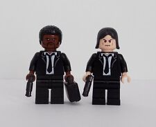Pulp Fiction Jules Winnfield and Vincent Vega Minifigures Custom Made using Lego