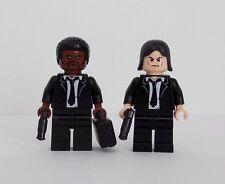 Pulp Fiction Jules Winnfield y Vincent Vega Minifiguras LEGO personalizado hecho con