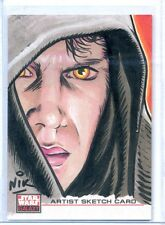 ANAKIN Topps STAR WARS GALAXY 4 SKETCH CARD by NIKE NEOCLEOUS *FULL COLOR**