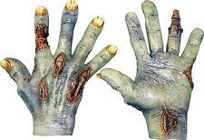 HALLOWEEN ADULT ZOMBIE UNDEAD HANDS GLOVES MASK PROP