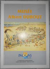 Affiche ancienne MUSEE ALBERT DUBOUT Musée du Train PALAVAS-LES-FLOTS Entoilée
