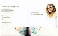 SARAH DARLING You Take Me All The Way 2016 UK 1-trk promo test CD