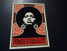 """SHEPARD FAIREY Obey Giant POWER & EQUALITY Sticker 4 X 3.25"""" art from poster"""