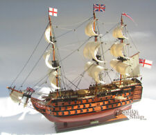 "HMS Victory Wooden Ship Model 30"" Ready for Display"