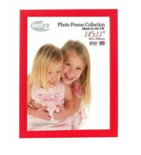 Inov8 British Made Traditional Picture/Photo Frame, 14x11-inch, Regal Red