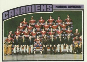 1976-77 TOPPS #141 MONTREAL CANADIENS UNMARKED TEAM CL. NRMT