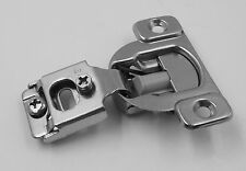 25 Pairs /50 Pack 1/2 OVERLAY SOFT CLOSE Face Frame Cabinet Hinge - Satin Nickel