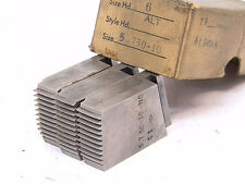 USED (3PCS.) LANDIS GEOMETRIC HSS CHASERS 5.750-10 NS