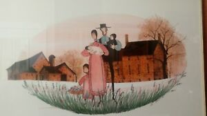 """P Buckley Moss """"Rural Heritage"""" 1988 Framed Print Mat signed numbered rare"""