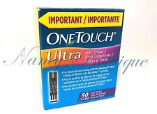 SALE BRAND NEW One Touch Ultra Diabetic Glucose 50 Test Strips Blue Exp 10/2019